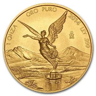 2014 Mexico 1 oz Gold Libertad BU