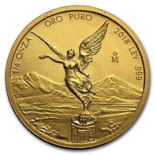 2018 Mexico 1/4 oz Gold Libertad BU