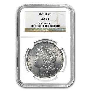 1880-O Morgan Dollar MS-63 NGC
