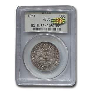 1946 Iowa Centennial Half Dollar Commem MS-65 PCGS CAC