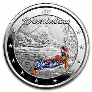 2018 Dominica 1 oz Silver Nature Isle Proof (Colorized)