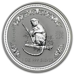 2004 Australia 1 oz Silver Year of the Monkey BU