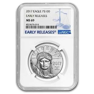 2017 1 oz Platinum American Eagle MS-69 NGC (Early