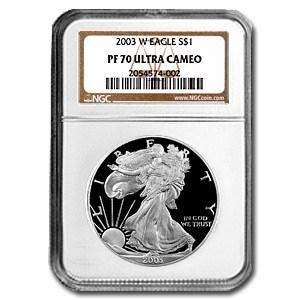 2003-W Proof Silver American Eagle PF-70 NGC