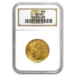 $10 Indian Gold Eagle MS-65 NGC (Random)