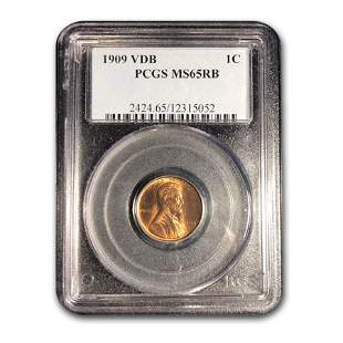 1909 VDB Lincoln Cent MS-65 PCGS (Red/Brown)