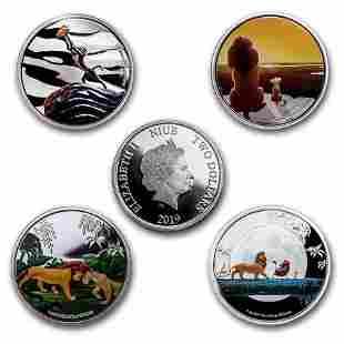 2019 Niue 1 oz Silver $2 Disney's The Lion King 4-Coin