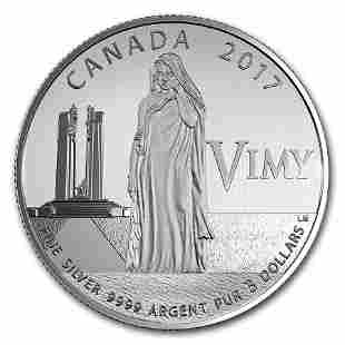 2017 Canada 1/4 oz Ag $3 Anniversary of the Battle of