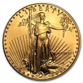 1991 1 oz Gold American Eagle BU (MCMXCI)