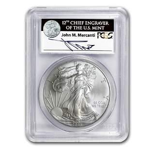 2013 Silver American Eagle MS-70 PCGS (FS, John