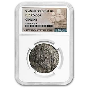 Spain Silver 8 Reales (El Cazador Shipwreck) Medium