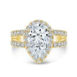 Natural 2.42 CTW Pear Cut Split Shank Diamond