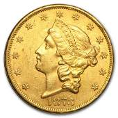 1873 $20 Liberty Gold Double Eagle Open 3 AU