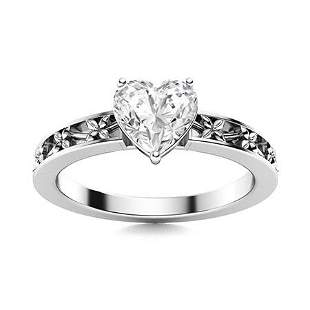 Natural 1.50 CTW Topaz Solitaire Ring 14K White Gold