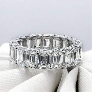 Natural 10.52 CTW U- Setting Emerald Cut Diamond