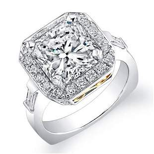 Natural 2.75 CTW Radiant Cut Diamond Engagement Ring