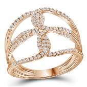 Diamond Entwined Negative Space Fashion Ring 1/4 Cttw