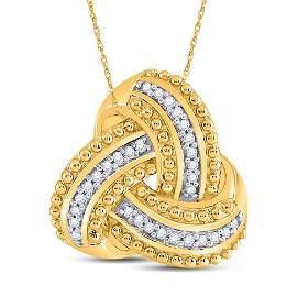 Diamond Celtic Knot Fashion Pendant 1/10 Cttw 10kt