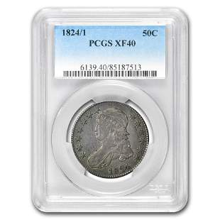 1824/1 Capped Bust Half Dollar XF-40 PCGS