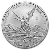 Mexico 5 oz Silver Libertad BU (Random Year)