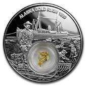 2018 Niue 1 oz Silver Alaska Gold Rush Proof