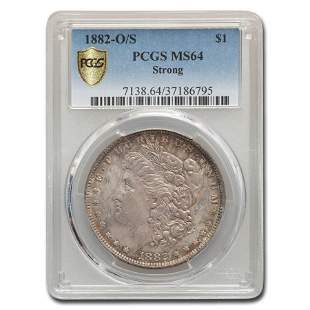 1882-O/S Morgan Dollar MS-64 PCGS (Strong)
