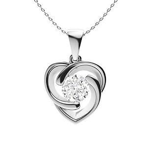 1.87 ctw Diamond Necklace 14K White Gold