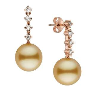 Golden South Sea Pearl and Diamond Constellation