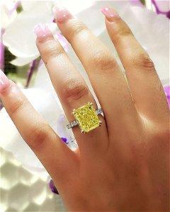 Natural 5.77 CTW Radiant Cut Light Yellow Diamond