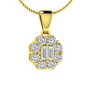 0.16 ctw Diamond Necklace 18K Yellow Gold