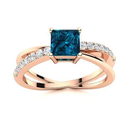 Natural 1.14 CTW Topaz & Diamond Engagement Ring 14K