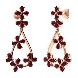 12.24 CTW Ruby Chandelier Earrings 18K Rose Gold