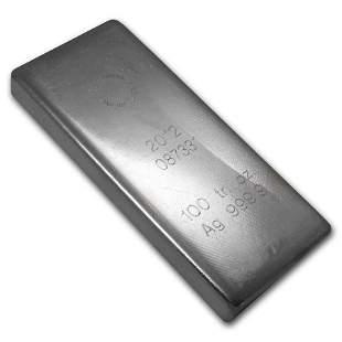 100 oz Silver Bar - Royal Canadian Mint (2012/.9999