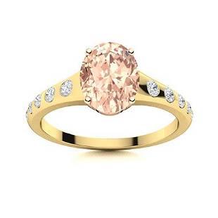 Natural 2.29 CTW Morganite & Diamond Engagement Ring