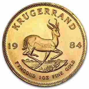 1984 South Africa 1 oz Gold Krugerrand BU