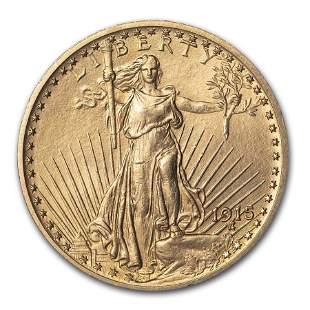 1915 $20 Saint-Gaudens Gold Double Eagle AU