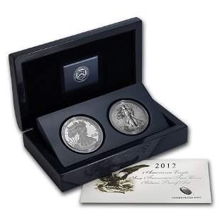 2012-S 2-Coin American Silver Eagle Set (75th Anniv)