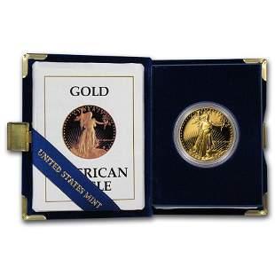 1987-W 1 oz Proof American Gold Eagle (w/Box & COA)