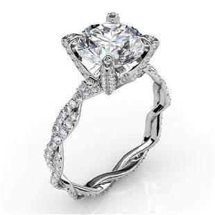 Natural 3.37 CTW Round Cut Diamond Infinity Engagement
