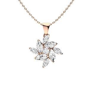 1.08 ctw Topaz & Diamond Necklace 14K Rose Gold