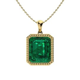 4.27 ctw Emerald Necklace 14K Yellow Gold