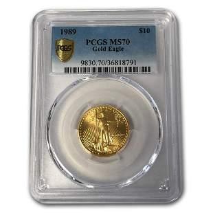1989 1/4 oz Gold American Eagle MS-70 PCGS
