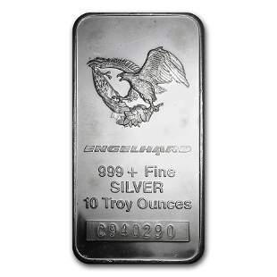 10 oz Silver Bar - Engelhard (Tall-Eagle Design)
