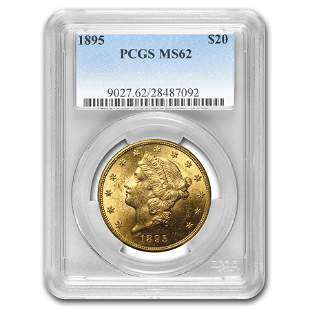 1895 $20 Liberty Gold Double Eagle MS-62 PCGS