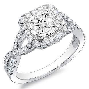 Natural 2.62 CTW Princess Cut Crisscross Diamond