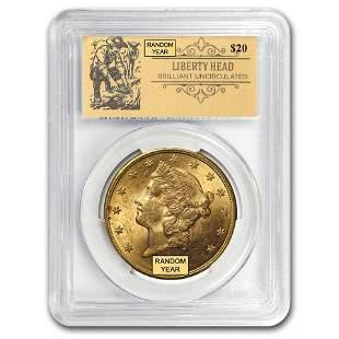$20 Liberty Gold Double Eagle BU PCGS (Random,