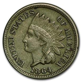 1864 Indian Head Cent Copper-Nickel XF