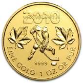 2010 Canada 1 oz Gold Maple Leaf BU (Vancouver