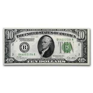 1928-B (B-New York) $10 FRN XF (Fr#2002-B)
