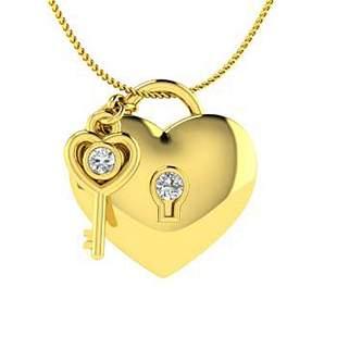 0.04 ctw Diamond Necklace 14K Yellow Gold